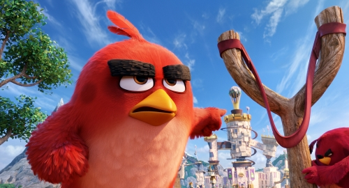 Red (Jason Sudeikis) in Columbia Pictures and Rovio Animation's ANGRY BIRDS.